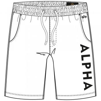 Alpha Jersey Short - white