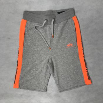 Contrast Short - grey heather/neon orange