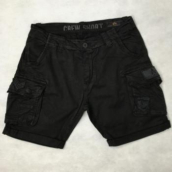 CREW SHORT PATCH - black/black