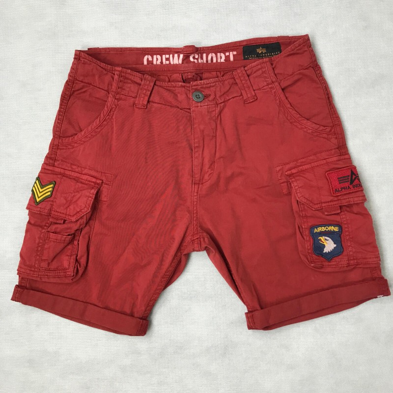 CREW SHORT PATCH - rbf red