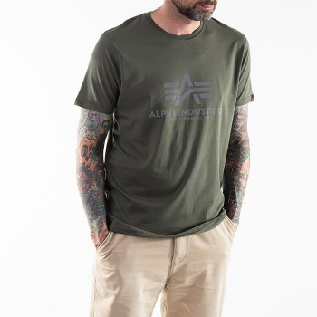 Basic T Reflective Print - dark olive