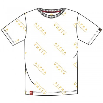 AOP T Foil Print - white/yellow gold
