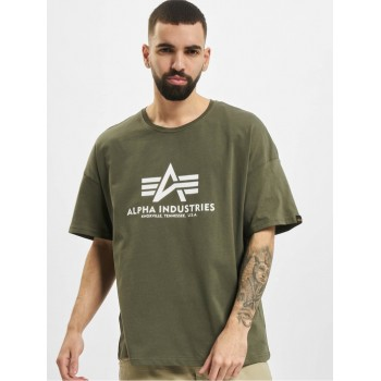Basic OS Heavy T - dark olive