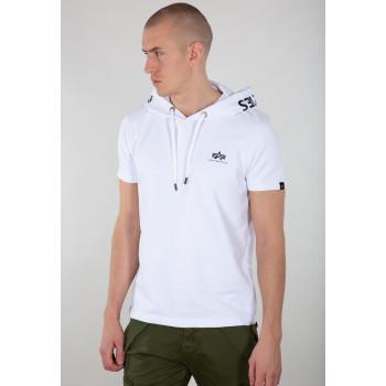 Printed Hoody T-shirt - white