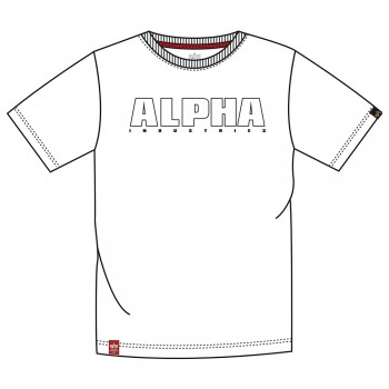 Alpha Embroidery Heavy T - white