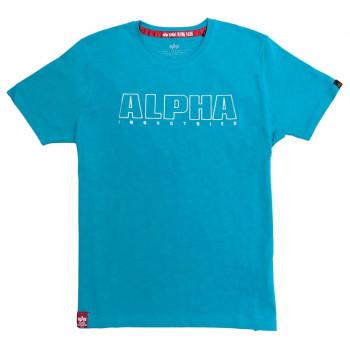 Alpha Embroidery Heavy T - blue lagoon