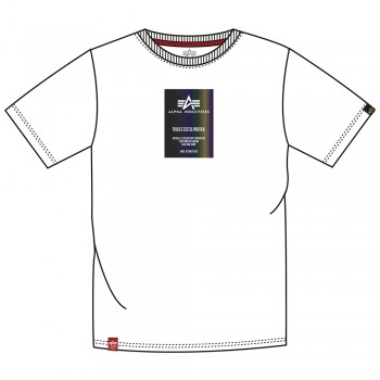 Rainbow Reflective Label T - white