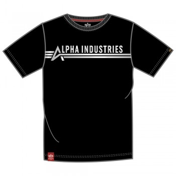 Alpha Industries T Foil Print - black/metalsilver