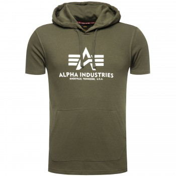Basic T Hooded - dark olive