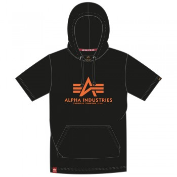 Basic T Hooded - black/orange