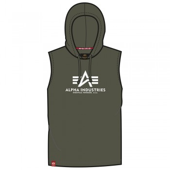 Basic Hooded Tank - dark olive