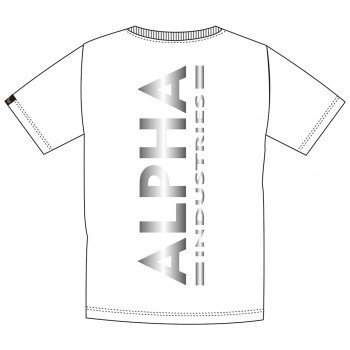 Backprint T Reflective Print - white/reflective