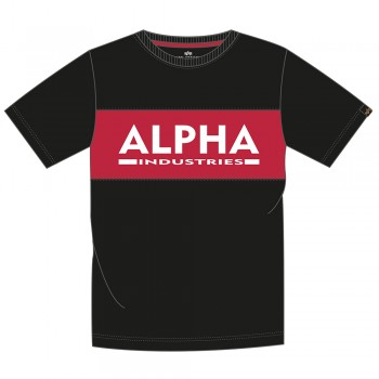 Alpha Inlay T - black/red