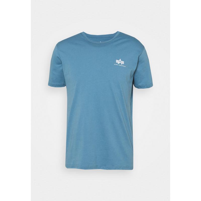 Basic T Small Logo - airforce blue
