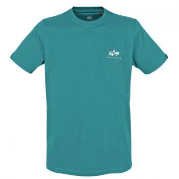 Basic T Small Logo - blue lagoon