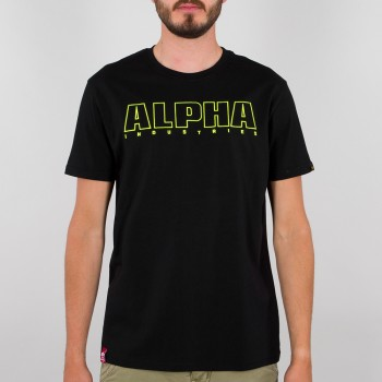 Alpha Embroidery Heavy T - black
