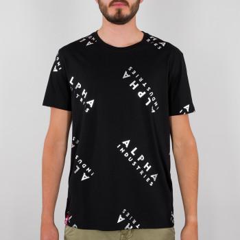 AOP T Foil Print - black/metalsilver