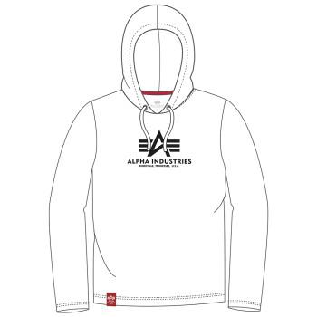 Basic Hooded Heavy LS - white