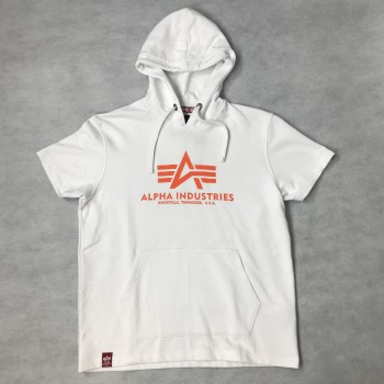 Basic T Hooded - white