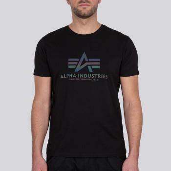 Basic T Rainbow Reflective - black