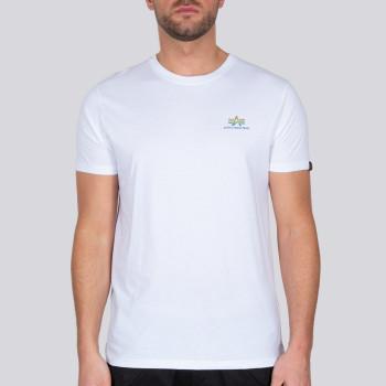Basic T Small Logo Rainbow Reflective - white