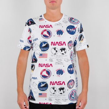 NASA AOP T-shirt - white