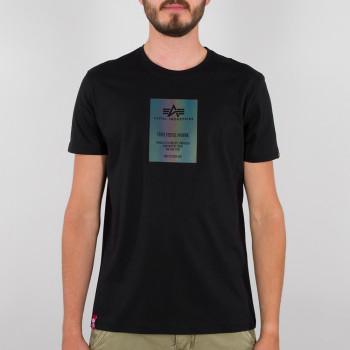 Rainbow Reflective Label T - black