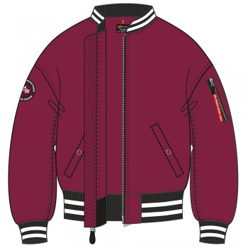 MA-1 OS Tipped Woman - major red