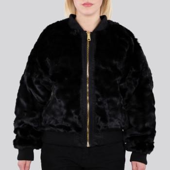 MA-1 OS Rev Fur Woman - fekete