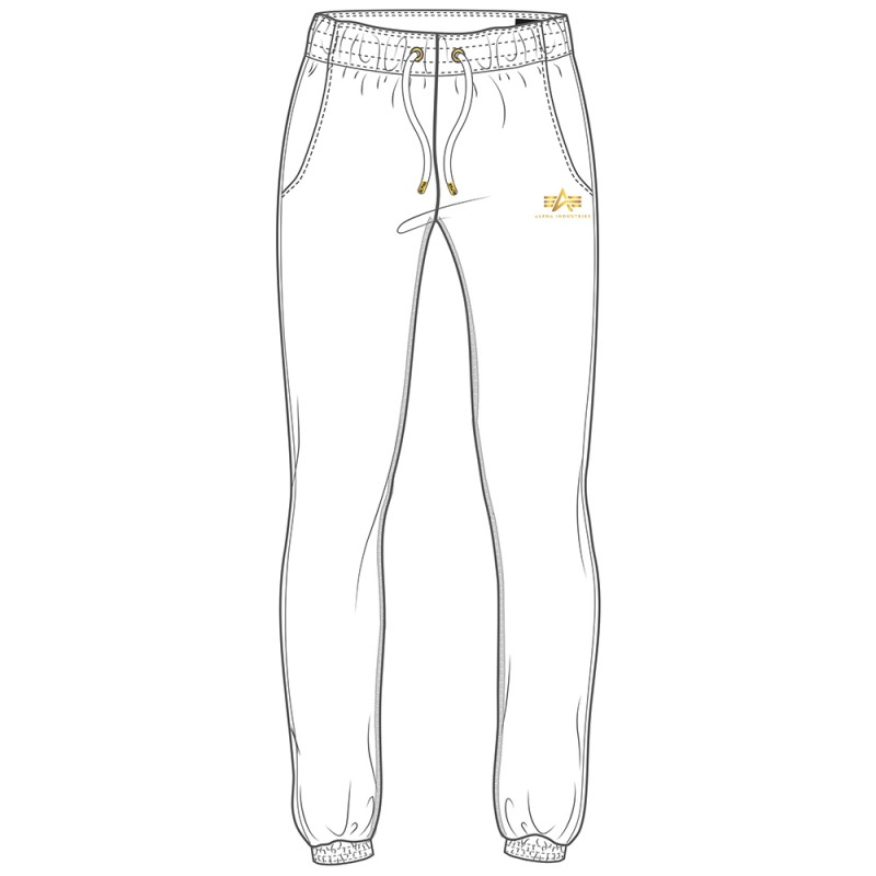 Basic Jogger SL Foil Print Woman - white/yellow gold
