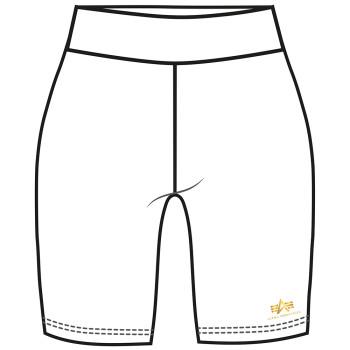 Basic Bike Shorts SL Foil Print Woman - white/yellow gold
