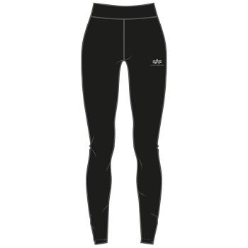 Basic Leggings SL Foil Print Woman - black/metalsilver