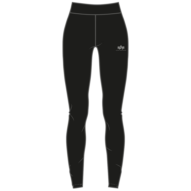 Basic Leggings SL Foil Print Woman - black/metalsilver