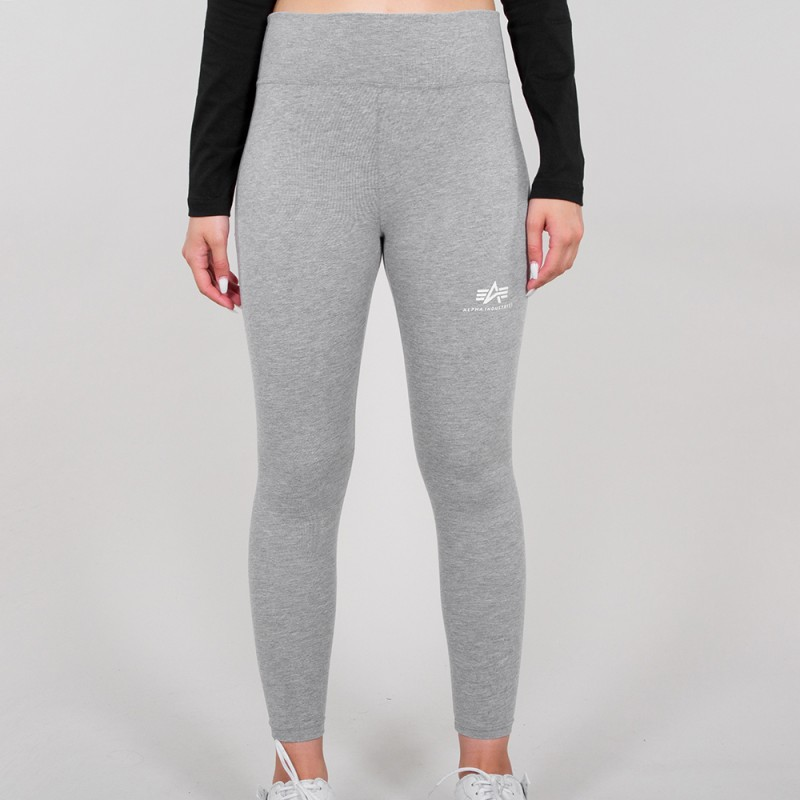 Basic Leggings SL Woman - greyheather/white