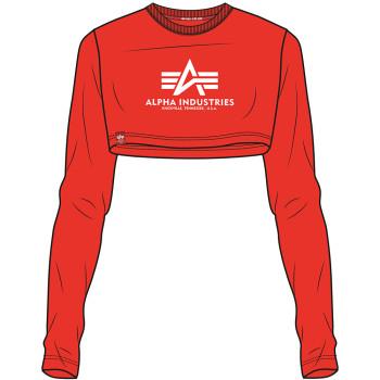 Basic Cropped LS - atomic red