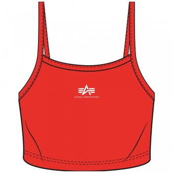 Basic Crop-Top SL Woman - atomic red