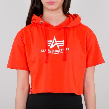 Basic Hooded T COS Woman - atomic red