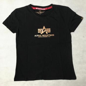 New Basic T Woman Foil Print - black/gold