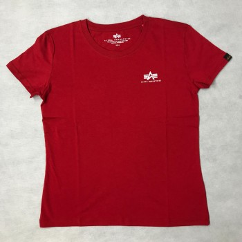 Basic T Small Logo Woman - speed red