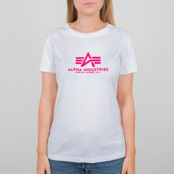 New Basic T Woman - white/neon pink