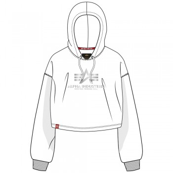 Basic Hoody COS Foil Print Woman - white/metal silver