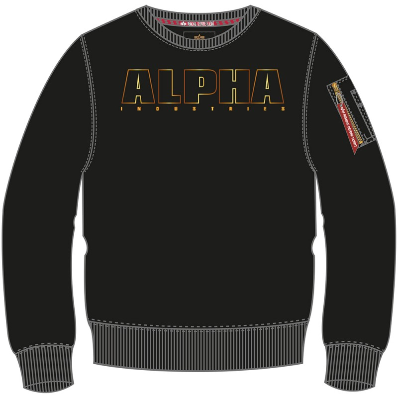 Alpha Embroidery Sweater Woman - black