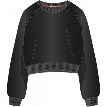 Rbf Cropped Sweater Woman - black/greyblack