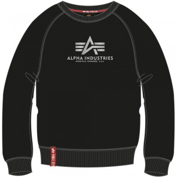 New Basic Sweater Woman Foil Print - black/metal silver