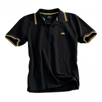 Twin Stripe Polo II - black/yellow