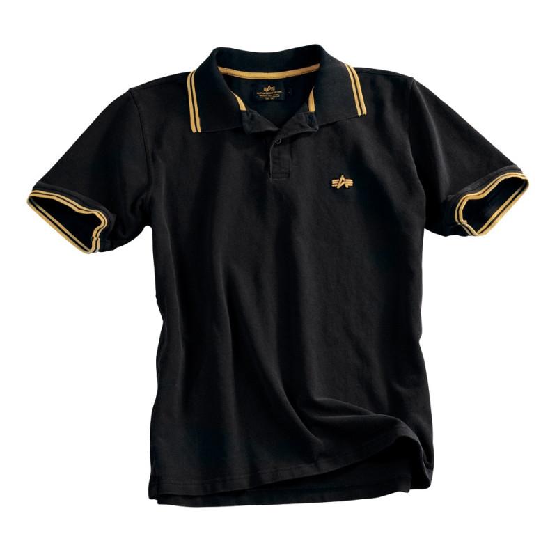 Twin Stripe Polo II - black/yellow