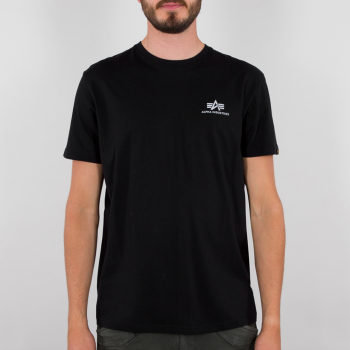 Basic T Small Logo Reflective Print - black