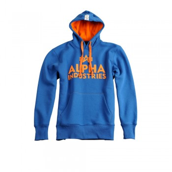 Foam Print Hoody - royal
