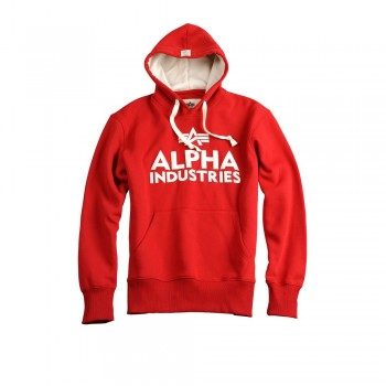 Foam Print Hoody - speed red