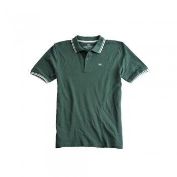 Twin Stripe Polo II - dark petrol